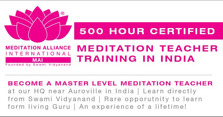 500 Hour Meditation Teacher Training in India